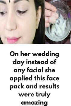 For her wedding she didn't opted any facial She is using this face pack since last 1 month and no doubt results were very impressive This is a very simple natural remedy prepared by all natural ingredients vefdry easily available Haldi.....