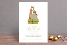 The Gifting Tree Holiday Party Invitations by Shari Margolin | Minted.com