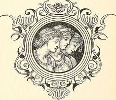 Vintage Images, Vintage Art, Art Nouveau Tattoo, Grimm Fairy Tales, Old Paintings, Line Art, Art Photography, Illustration Art, Character Design