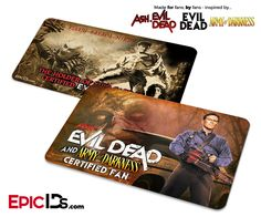 Evil Dead + Ash vs The Evil Dead + Army of Darkness Certified Fan ID