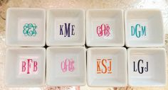 PREORDERPetite Monogrammed Ring Dish by ArentYouCute on Etsy