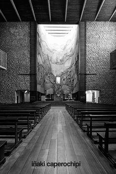 La Basilica de Arantzazu. Oñati. Pais Vasco. © Inaki Caperochipi Photography Bilbao, Concept, Mood, Black And White, Space, Photography, Spanish Architecture, Floor Space, Photograph