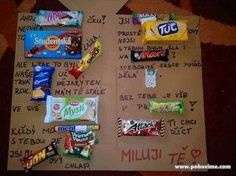 Zajímavé vyznání lásky Man Birthday, Pop Tarts, Fondant, Diy And Crafts, Snack Recipes, Birthdays, Christmas Gifts, Presents, Packaging