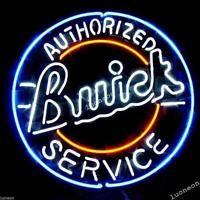 Authorized Buick Service Chevy GM US Car Real Beer Bar Neon Light Sign FAST SHIP