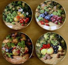 Royal Albert - Painted Fruit - Collector Plates
