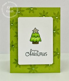 Card by PS DT Kim Kesti using the PS Merry Motifs stamp set