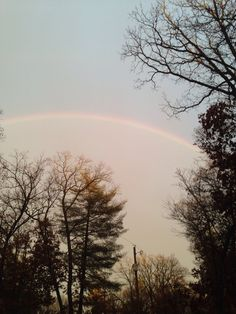 The rainbow just before I seen it as a double!
