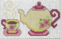cross stitch - tea