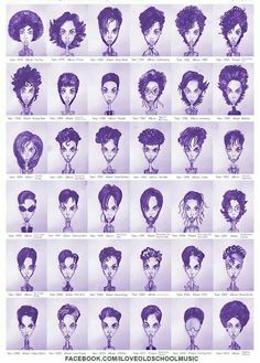 """""""The evolution of Prince from 1978 to now. The more things change, the more they stay the same - he had a 'fro in '78 and he's back sportin' one now. #OldSchoolStyle #GrittySoulApparelComingSoon"""" via @ ILoveOldSchoolMusic"""