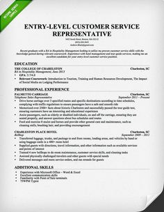 entry level customer service representative resume template - Customer Service Responsibilities For Resume