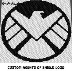 new product aac50 02026 Custom Marvel Agents of Shield Logo Symbol crochet graphgan blanket pattern   c2c, cross stitch