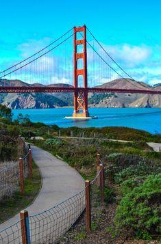 Golden Gate Bridge from Fort Point Park - San Francisco, California San Francisco Vacation, San Francisco City, San Francisco Travel, San Francisco California, Puente Golden Gate, New Orleans, New York, California Camping, California California