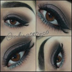 Today's eye.  Used @nyxcosmetics Smokey Palette  @morphebrushes black and dark brown shadow for my brows.  @lagirlcosmetics #proconceal to clean them up  @maccosmetics #soba on the crease  Italia liquid liner.  Random dollar store silver liner on the bottom :) Awesome right ?? #maccosmetics #morphebrushes #lagirlcosmetics #nyxcosmetics #makeup #glamtrashmakeup #nofilter #motd #eotd #liner #wingedliner #eyeshadow #eyeliner #mua #ilovemakeup #aliceO #brows #eyebrows