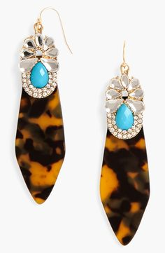 Tortoiseshell Drop Earrings
