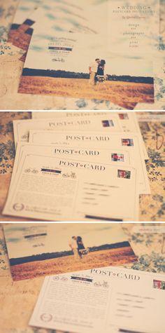 Wedding Invitations Postcard Invitation by CharlenePrecious, $170.00