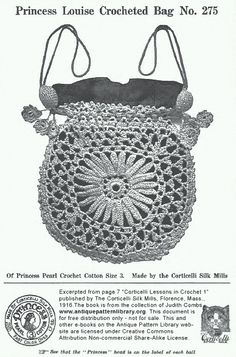 crochet purse -- WOW! Fantastic details of making this bag.