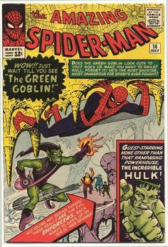 """Very rare, hand-signed by #StanLee - selling fast! Get yours at artinsights.com before they're gone! """"Origins: Spider-Man - Amazing Spider-Man #14"""" celebrates the first appearance of one of Spider-Man's greatest villains, the Green Goblin. Created by Stan Lee and Steve Ditko, Spider-Man first appeared in Amazing Fantasy # 15 in August 1962. Due to his popularity, Spider-Man got his own comic in March 1963, Amazing Spider-Man #1. The Green Goblin came along in Amazing Spider-Man #14."""