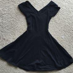 Brandy Melville Dress Brandy Melville, Skater Dress, One Size - fits like a small, cross/open back Brandy Melville Dresses Mini