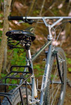 1994 Bridgestone with Bullmoose Bars - Bike Forums Mountain Bike Tour, Mountain Biking, Triangle Bar, Commuter Bike, Cool Bikes, Bicycles, Cali, Cycling, Veils