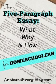 Trying to teach the five-paragraph essay in your homeschool? Here's what we do!