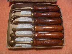 Vintage SET Millinery HAT Making Tools Antique OLD Cedar Handles FOR HAT Block | eBay