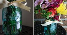 Painting your own bottles and glasses!  In every color you want. Im definetly going to try this