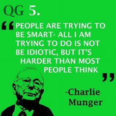 Think logically and rationally #quote #charliemunger