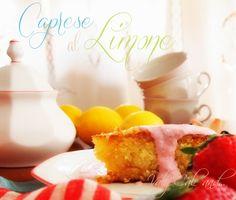 Almond, lemon and white chocolate cake from Capri Island http://valycakeand.blogspot.it/2013/05/caprese-al-limone-di-sal-de-riso-con.html: Caprese al limone di Sal De Riso con salsa di fragole e ricotta