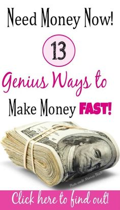 Need to make money fast? Let us show you easy legitimate ways to make money fast.You can find Make money fast and more on our websit. Need Money Fast, Make Money Now, Earn Money From Home, Earn Money Online, Money Tips, Money Saving Tips, Cash Today, Online Jobs From Home, Extra Money