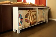 Quilt rack. This would look really nice behind the couch, and solve all my quilt problems!