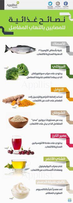 نصائح غذائية للمصابين بالتهاب المفاصل