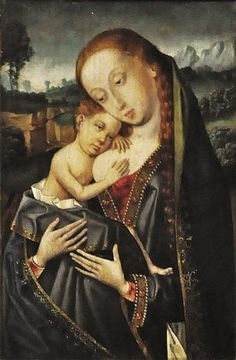 Master of the Legend of Mary Magdalene (sometimes called the Master of the Magdalen Legend) (German artist, fl 1480-1537) Madonna with Child