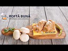 Sarmale de post cu ciuperci, orez si varza, reteta traditionala moldoveneasca - YouTube Romanian Food, Vegan Recipes, Vegan Food, Healthy Eating, Vegetarian, Lunch, Chicken, Meat, Youtube