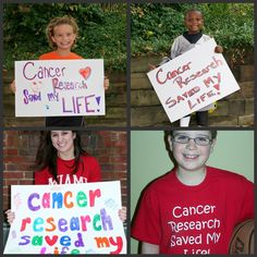 Ellen Flannery, the founder of  CancerFree KIDS Pediatric Cancer Research Alliance, submitted these photos of (top) Leah, Kamari, (bottom) Jenna and Thomas.