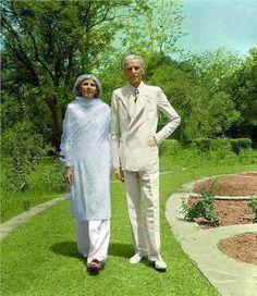 founder of pakistan quaid e azam muhammad ali jinnah and his sister mohtarma fatima jinnah