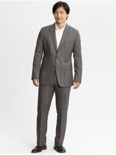 heritage brown plaid wool suit