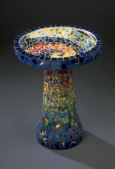 Mosaic Birdbath Chris Zonta