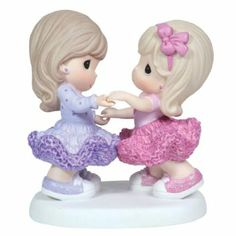 Amazon.com: Precious Moments Girls Dancing in Tutus and Glitter Shoes Figurine: Home & Kitchen