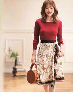 Pin on ファッション Japan Fashion, India Fashion, Korea Fashion, Simple Work Outfits, Korean Street Fashion, Modern Outfits, Everyday Outfits, Skirt Fashion, Beautiful Outfits