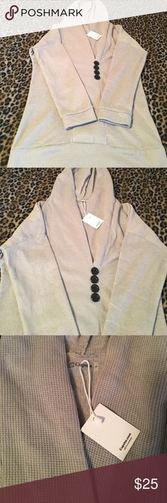 Cupshe Hooded Sweater Long, loose fit. NWT Sweaters