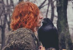 The girl could speak to ravens.  Odd that the girl couldn't see the birds, yet always knew where they were.