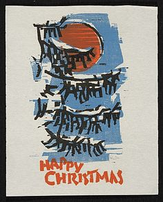 Citation: Werner Drewes Christmas card to unidentified recipient, ca. 1966. Werner Drewes papers, Archives of American Art, Smithsonian Institution.