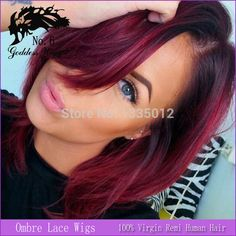 Find More Wigs Information about Short Human Hair Lace Front Wig/Ombre Full Lace Human Hair Wigs Glueless For Black Women Brazilian 1b To Burgundy Wigs,High Quality hair secret lace wig,China hair salon wigs Suppliers, Cheap wig hair band from Goddess Wiggie No.6 Store on Aliexpress.com