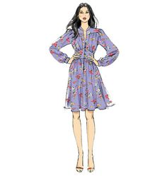 V9076 - Super cute, '70s style dress from Vogue.