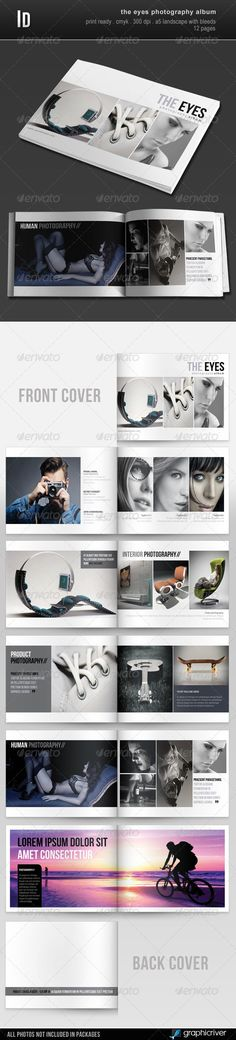 The Eyes Photography Album  —  InDesign Template • Only available here! →…