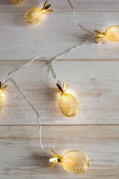 8.5 Ft Pineapple String Lights to add a tropical feel to your outdoor/garden area. #pineapple #ad #lights