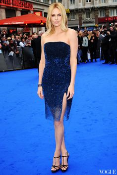 Charlize Theron in blue on blue♥♥♥♥