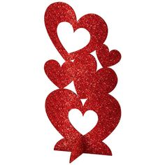 day decorations center pieces Amscan in. Valentine's Day Red MDF Glitter Hearts Centerpiece - The Home Depot Glitter Centerpieces, Centerpiece Decorations, Heart Decorations, Valentines Day Decorations, Holiday Decorations, Party Decoration, Craft Party, Valentines Day Hearts, Valentine Day Crafts