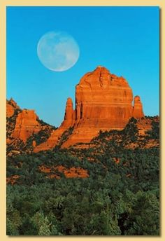 Moon Over Sedona...By Artist Unknown...