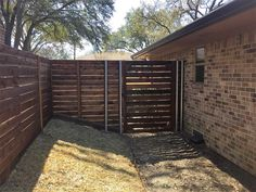 Horizontal side by side cedar fence with gaps. Installed by Titan Fence & Supply Company. Building A Fence, Horizontal Fence, Cedar Fence, Outdoor Decor, Home, Design, House, Homes, Design Comics
